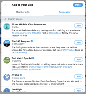 add/remove accounts from twitter lists