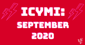 ICYMI blog post for Sept 2020